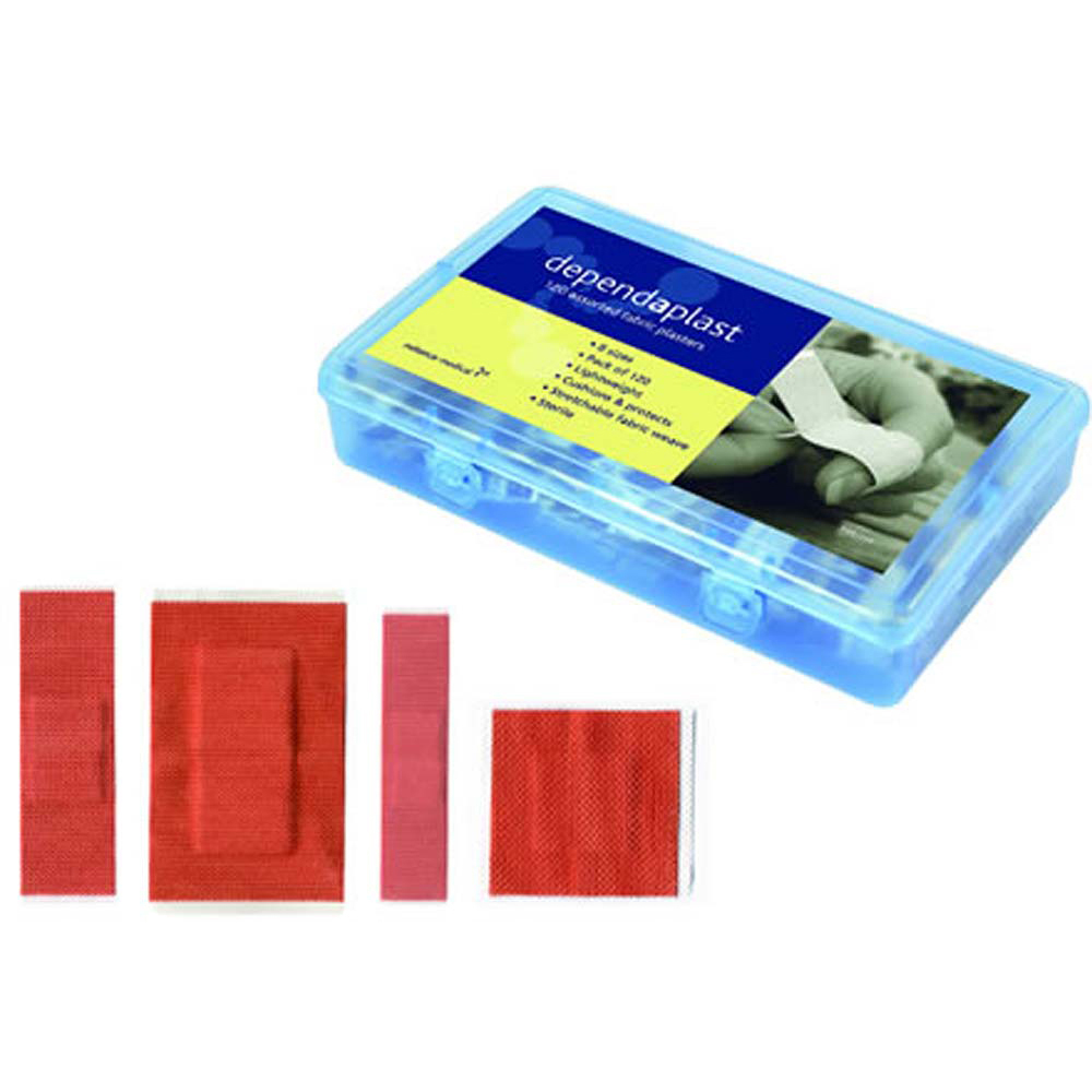 Fabric Sterile Plasters - Assorted Pack of 120
