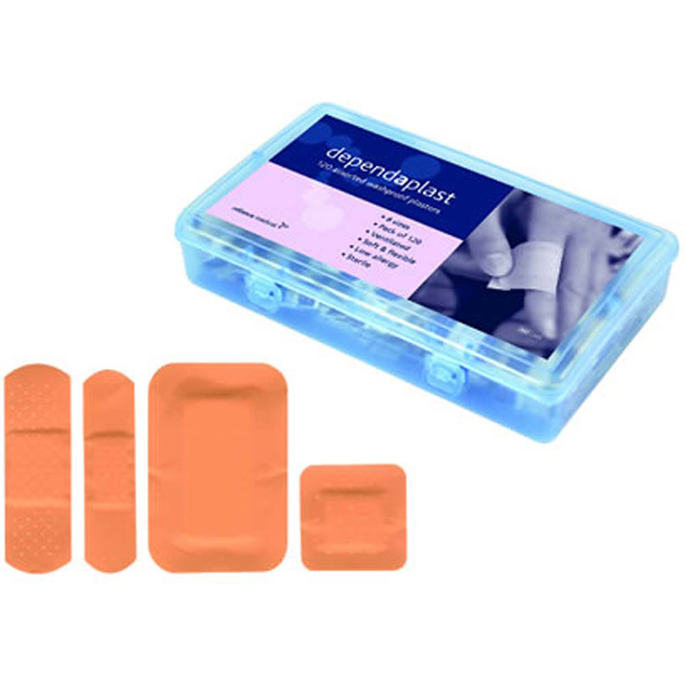 Waterproof Sterile Plasters - Assorted Pack of 120