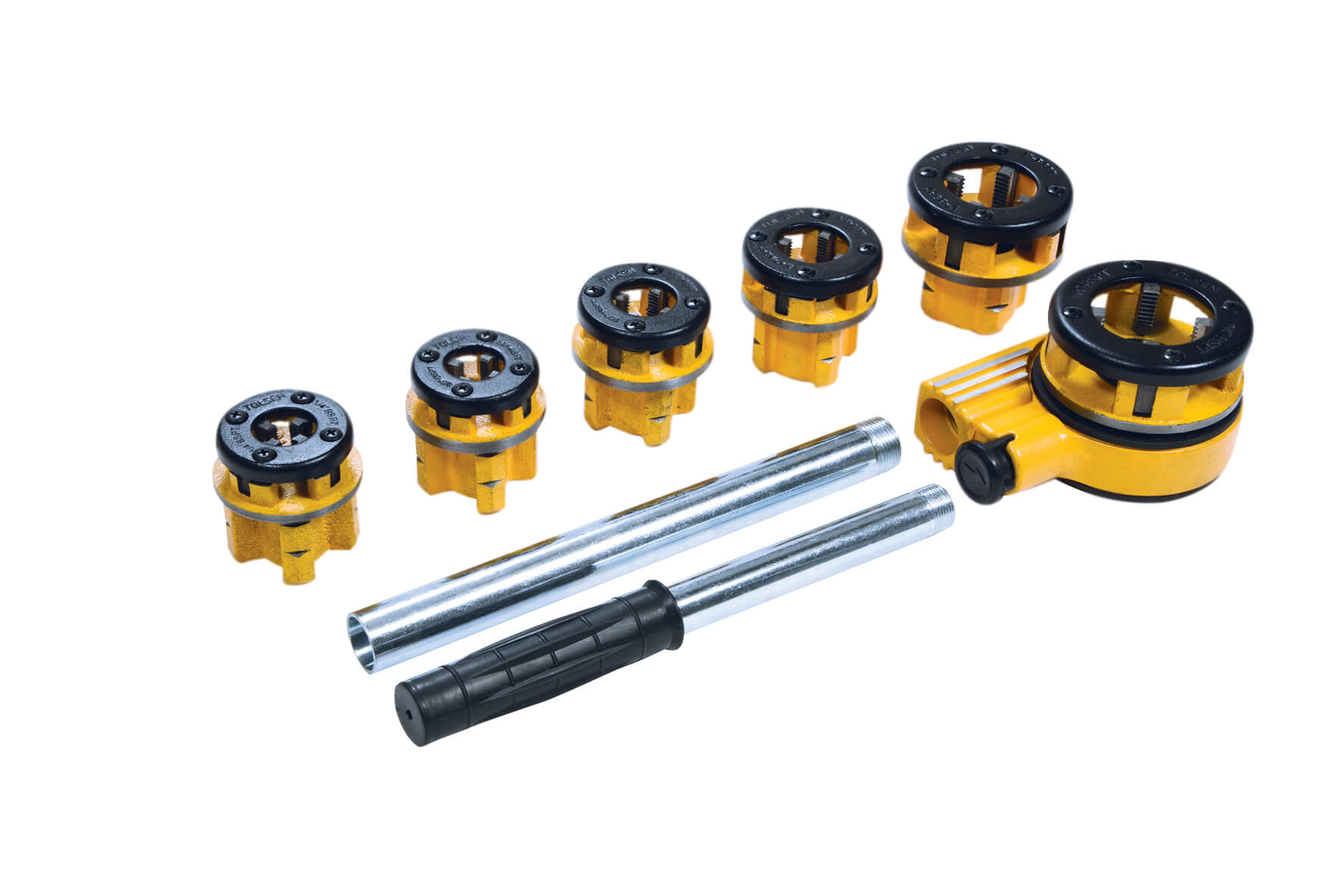 Ratchet Pipe Threading Set - 6pce