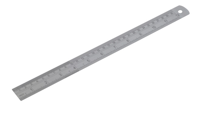 Diatec Metric/Imperial Stainless Steel Rule 12