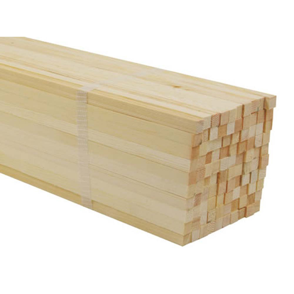 Softwood Square 10 x 10mm, 600mm Long (Pack of 100)