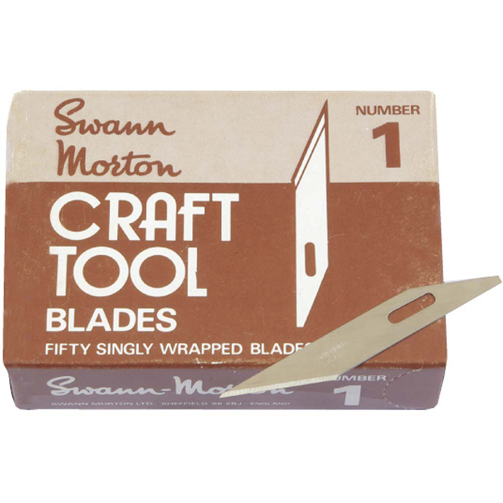 No.1 Blades to suit Swann Morton Craft Knife (Pack of 50)
