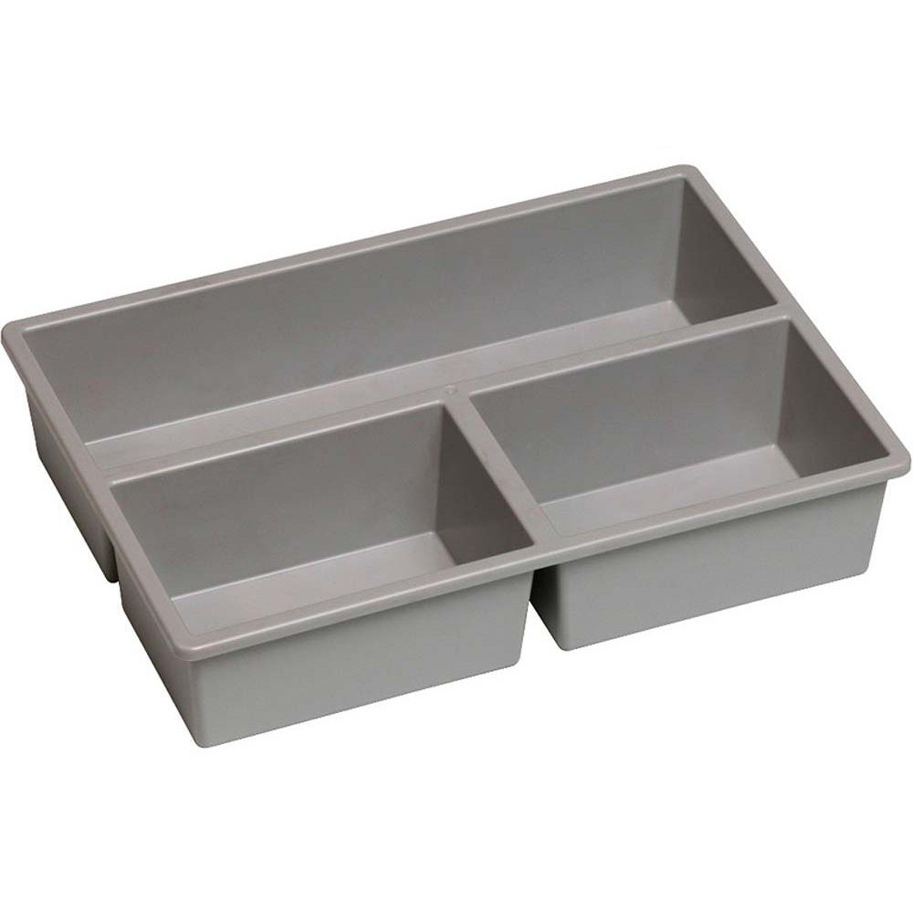 Tray Inserts - 3 Section Grey