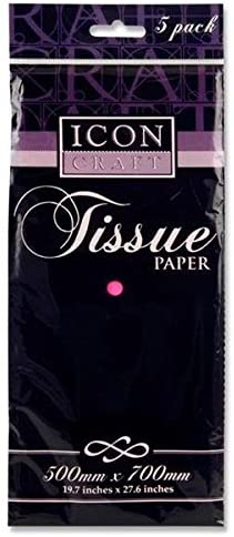 Tissue Paper Hot Pink 500x700mm - Pack of 5