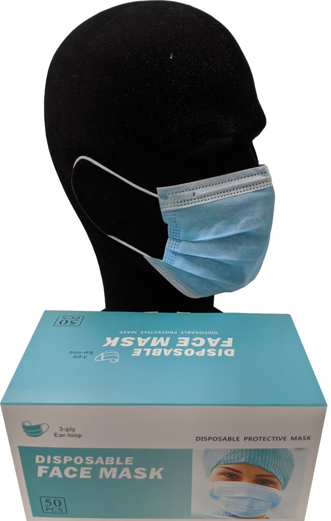 3 ply , Type IIR Face Masks - Pack 50