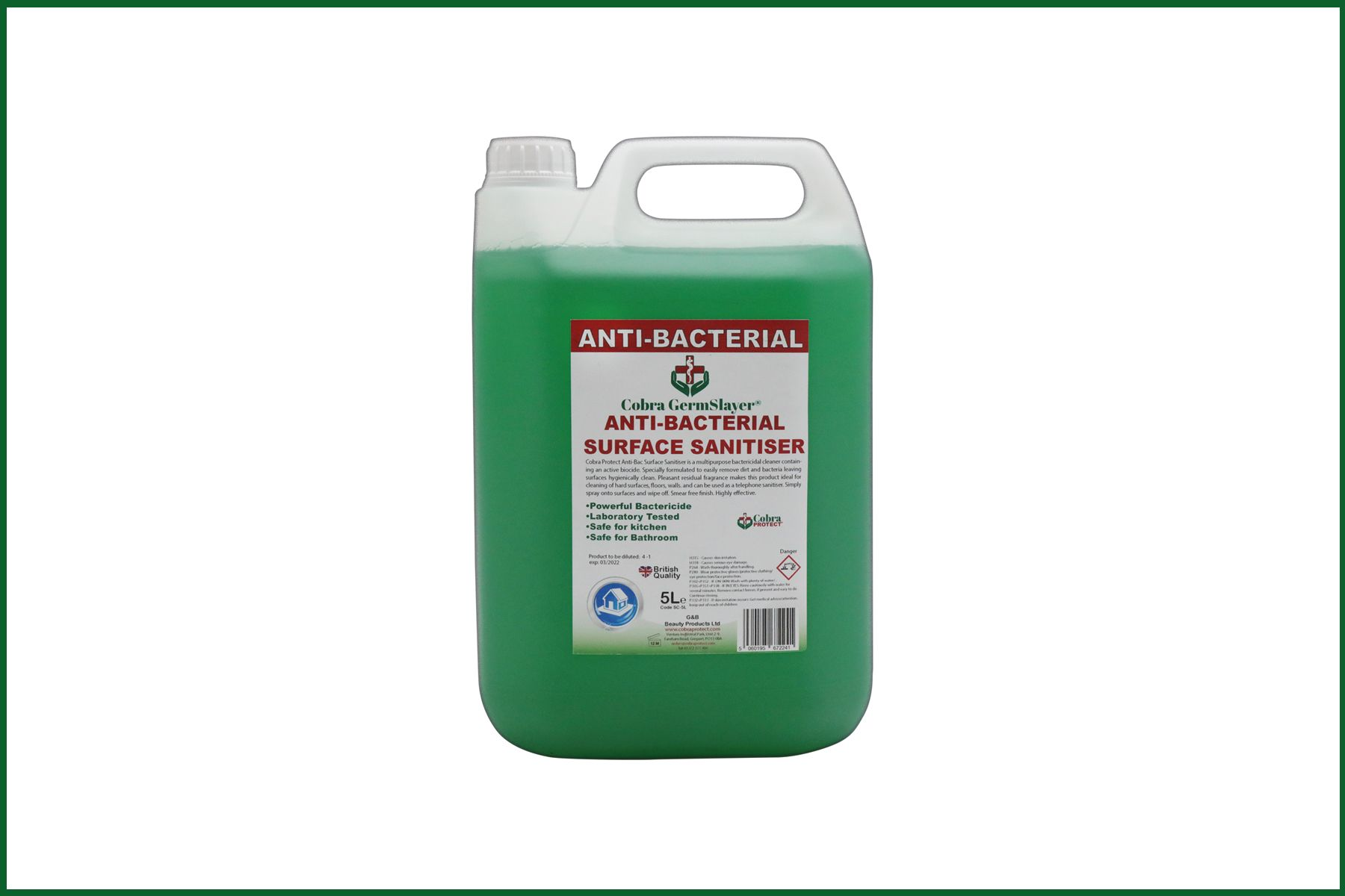 Refill - 5 Litre Anti-Bacterial Surface Cleaner